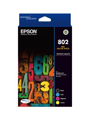 Epson 802 Genuine CMYK Colour Pack