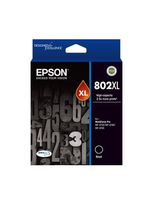 Epson 802 Genuine Black XL Ink Cartridge
