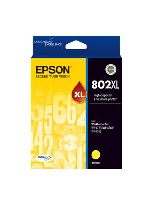 Epson 802 Genuine Yellow XL Ink Cartridge