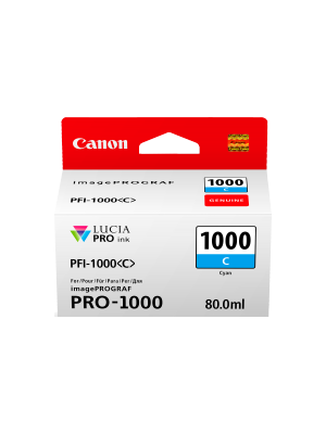 Canon PFI1000 Genuine Cyan Ink Cartridge