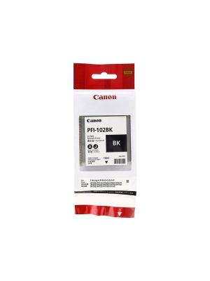 Canon PFI102 Genuine Black Ink