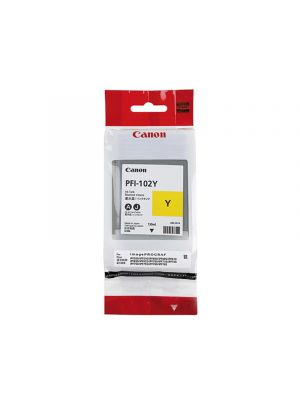 Canon PFI102 Genuine Yellow Ink