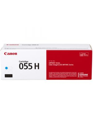 Canon CART-055H Genuine Cyan High Capacity Toner Cartridge - 5,900 pages