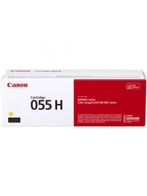 Canon CART-055H Genuine Yellow High Capacity Toner Cartridge - 5,900 pages