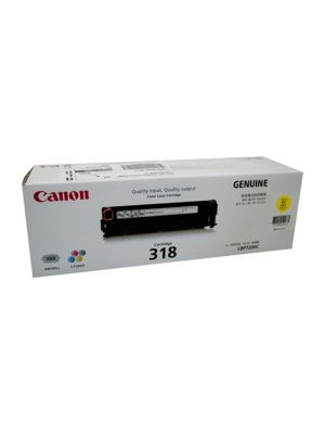 Canon CART318 Genuine Yellow Toner Cartridge - 2,400 pages