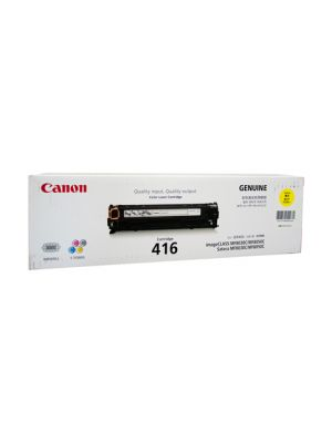 Canon CART416 Genuine Yellow Toner Cartridge -1,500 pages