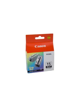 Canon BCI15BK Genuine Black Ink Tank- 150 pages