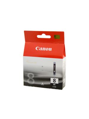 Canon CLI8BK Genuine Photo Black Ink Cartridge - 65 pages