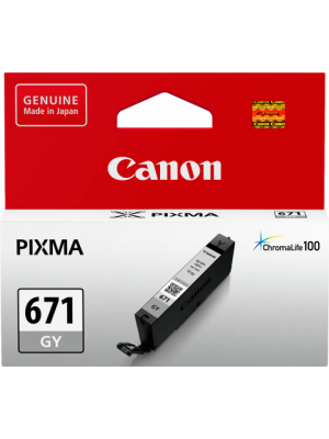 Canon CLI671 Genuine Grey Ink Cartridge