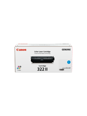 Canon CART322 Genuine Cyan High Yield Toner Cartridge - 15, 000 pages