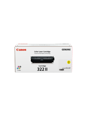 Canon CART322 Genuine Yellow High Yield Toner Cartridge - 15, 000 pages