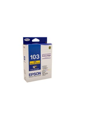 Epson 103 Genuine High Yield Ink Value Pack