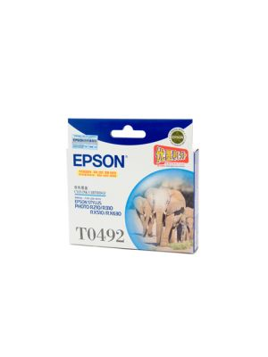 Epson T0492 Genuine Cyan Ink Cartridge - 430 pages