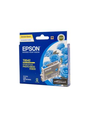 Epson T0542 Genuine Cyan Ink - 440 pages