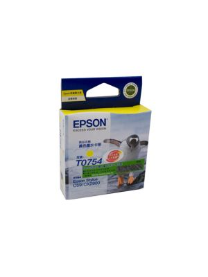 Epson T0754 Genuine Yellow Ink Cartridge - 255 pages