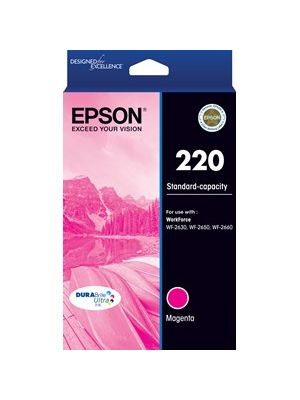 Epson 220 Genuine Magenta Ink Cartridge  - 165 pages