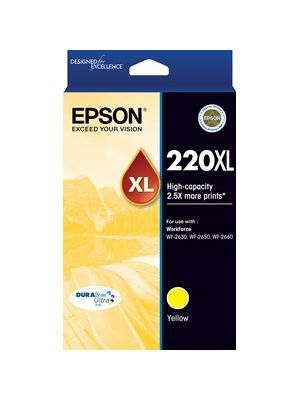 Epson 220XL Genuine High Yield Yellow Ink Cartridge - 450 pages