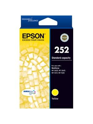 Epson 252 Genuine Yellow Ink Cartridge - 300 pages
