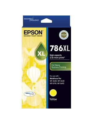Epson 786XL Genuine Yellow Ink Cartridge - 2,000 pages