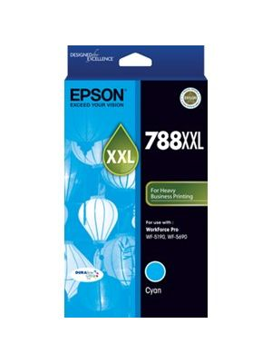 Epson 788XXL Genuine Cyan Ink Cartridge - 4,000 pages