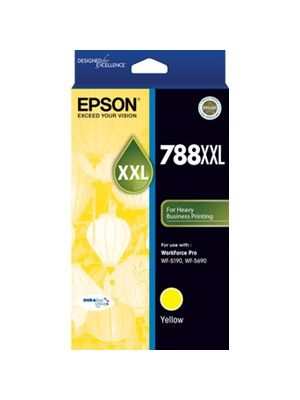 Epson 788XXL Genuine Yellow Ink Cartridge - 4,000 pages