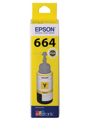 Epson T664 Genuine Yellow Eco Tank Ink Bottle