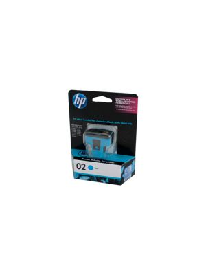 HP #02 Genuine Cyan Ink Cartridge C8771WA - 350 pages