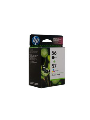 HP #56/57 Genuine Ink Twin Pack - bk 450 pages cl 400 pages