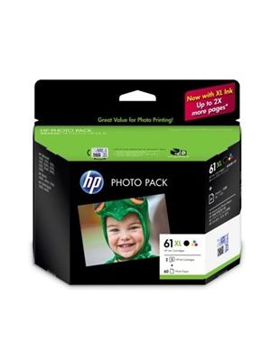HP #61XL Genuine  Ink Photo Value Pack - J3N03AA