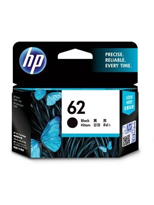HP #62 Genuine Black Ink Cartridge C2P04AA - 200 pages