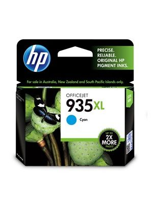 HP #935XL Genuine Cyan High Yield Ink Cartridge C2P24AA - 825 pages