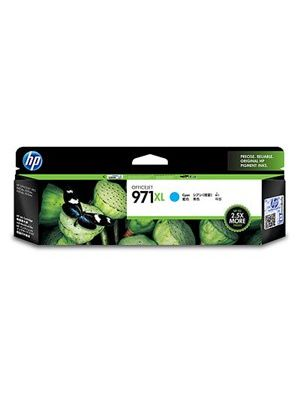 HP #971XL Genuine Cyan High Yield Ink Cartridge CN626AA - 6,600 pages