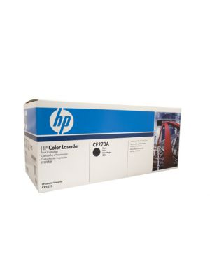 HP #650A Genuine Black Toner CE270A - 13,500 pages