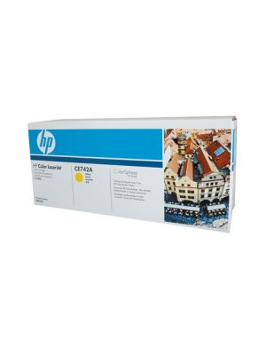 HP #307A Genuine Yellow Toner CE742A - 7,300 pages