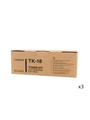 3 x Kyocera TK18 Toner Kit - Prints up to 7,200 pages