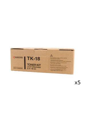5 x Kyocera TK18 Toner Kit - Prints up to 7,200 pages