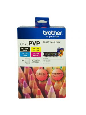 Brother LC73 Genuine Photo Value Pack - Refer to singles