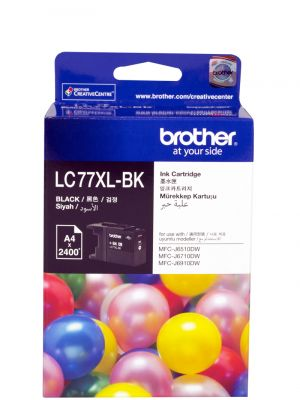 Brother LC77XL Genuine Black Ink Cartridge - Up to 2,400 pages