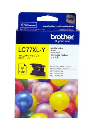 Brother LC77XL Genuine Yellow Ink Cartridge - Up to 1,200 pages