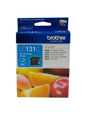 Brother LC131 Genuine Cyan Ink Cartridge - up to 300 pages