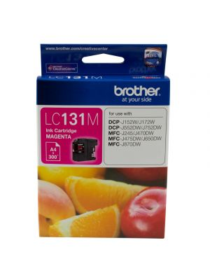 Brother LC131 Genuine Magenta Ink Cartridge - up to 300 pages
