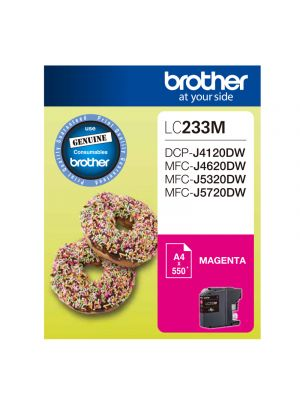 Brother LC233 Genuine Magenta Ink Cartridge - Up to 550 pages