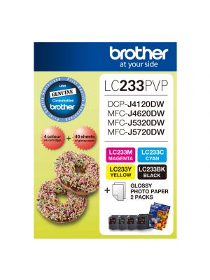 Brother LC233 Genuine Photo Value Pack - Refer to singles