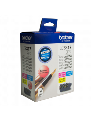 Brother LC3317 Genuine Colour Value Pack - Up to 550 pages each