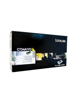 Lexmark C734 Yellow Toner Cartridge - 6,000 pages