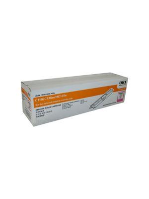 Oki C110/C130N Genuine Magenta Toner Cartridge 2,500 pages ( 44250706)