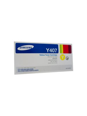 Samsung CLTY407S Genuine Yellow Toner - 1,000 pages