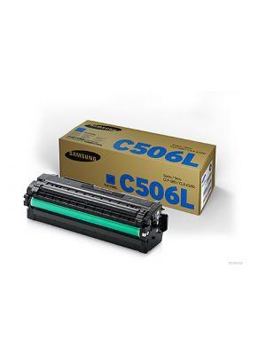 Samsung CLTC506L Genuine Cyan Toner Cartridge SU040A - 3,500 pages