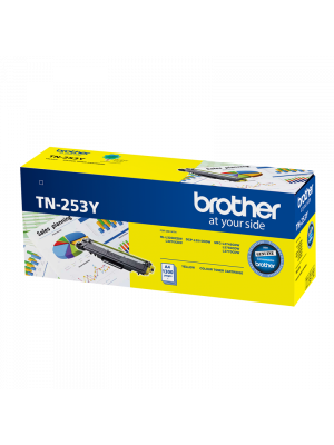 Brother TN253 Genuine Yellow Toner Cartridge - 1,300 pages