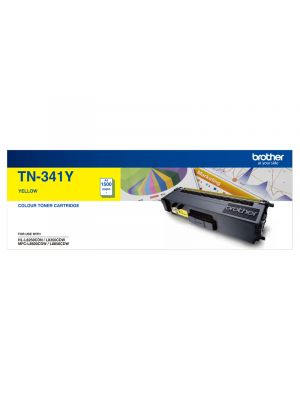 Brother TN341 Genuine Yellow Toner Cartridge - 1,500 Pages